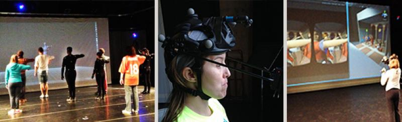 Motion capture and virtual reality classes