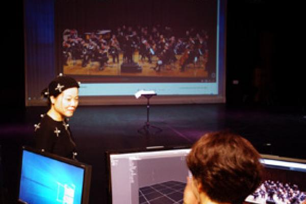 Dr Ching-Chun Lai picture in motion capture studio